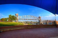 Stary Rzeki Poręcza Most Zdjęcia Royalty Free