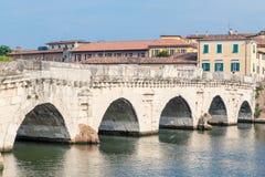 Stary rzymski most w Rimini zdjęcie royalty free