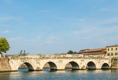 Stary rzymski most w Rimini obraz royalty free