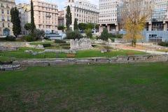 Stary rzymski port w Marseille zdjęcie stock