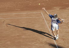 stary służący tenisa fotografia royalty free