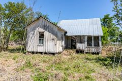 Stary 1800's dom w Dewville Teksas zdjęcia stock