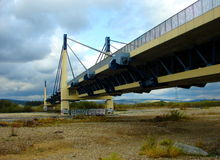 Stary Sacz - un ponte della strada sopra il Dunajec Fotografia Stock