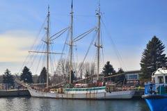 Stary sailship w schronieniu Fotografia Stock