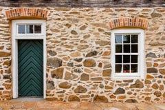Stary Salem drzwi, okno i Zdjęcie Royalty Free