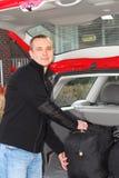 stary samochód bagażu Obraz Royalty Free