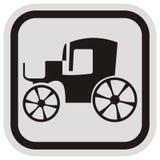 Stary samochód, rama ilustracja wektor