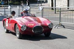 Stary samochód w Mille Miglia rasie obrazy royalty free