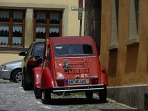 Stary samochód w Rothenburg Fotografia Royalty Free