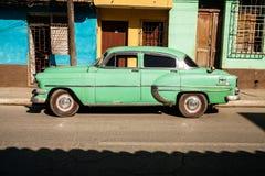 Stary samochód w Trinidad Obrazy Royalty Free