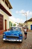Stary samochód w Trinidad, Kuba Zdjęcia Royalty Free