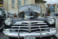 Stary samochód z liczbą na ulicie Zurich Zdjęcie Royalty Free