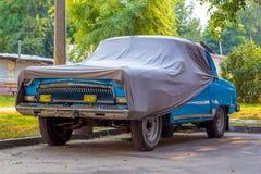 Stary samochód zakrywający z pokrywą Obrazy Royalty Free