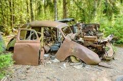 Stary samochodowy cmentarz Zdjęcia Royalty Free