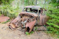 Stary samochodowy cmentarz Obraz Royalty Free