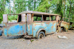 Stary samochodowy cmentarz Zdjęcie Royalty Free