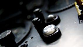 Stary Samolotowy Radiowy kokpit zdjęcie wideo