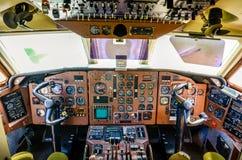 Stary samolotu kokpit Zdjęcia Royalty Free
