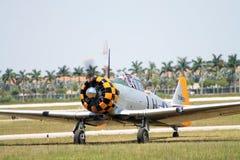 Stary samolotu szturmowego lądowanie Zdjęcia Royalty Free