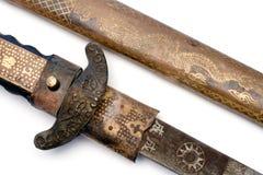 stary samurajski miecz Obrazy Royalty Free