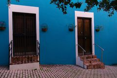 Stary San Juan, twój kolory robi ja topić Obrazy Royalty Free