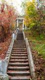 Stary schody to prowadzi gazebo obraz royalty free
