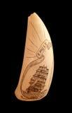 Stary scrimshaw znajdujący na Bequia Fotografia Royalty Free
