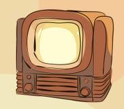 stary setu tv wektor Obrazy Royalty Free
