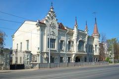 Stary Shamil domowy Literacki muzeum Gabdulla Tukai, pogodny może dzień Kazan, Tatarstan Fotografia Stock
