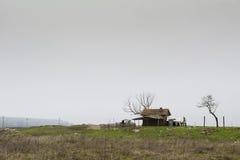 Stary sheepfold blisko rzeki obrazy royalty free