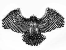stary shinny orła metalu symbol fotografia stock