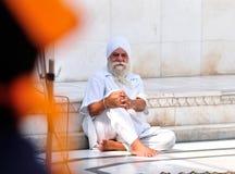 Stary sikhijczyk, Siedzi Samotnie fotografia royalty free