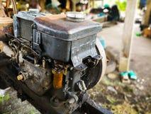 Stary silnik diesla używać w rolnictwie zdjęcie royalty free