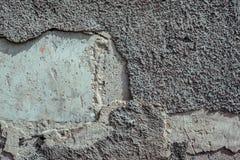 Stary Siwieje ścianę Z częścią stiuk I Pierwszy warstwy ścianę Pod Nim obrazy stock