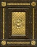 stary skórzanej księgi związanych obraz stock