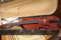 stary skrzypcach Zdjęcia Royalty Free