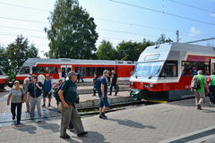 Stary Smokovec railway station Royalty Free Stock Photos