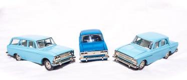 Stary sowieci bawi się - metali modelów samochody Wzorcowy samochód Moskvich Obraz Royalty Free