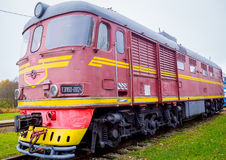 Stary sowieci pociąg Fotografia Royalty Free