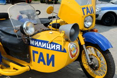 Stary sowieci polici motocykl Fotografia Royalty Free