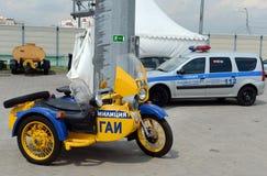 Stary sowieci polici motocykl Zdjęcia Royalty Free