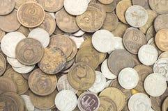 Stary sowieci - zjednoczenie pieniądze Wydychany tło zdjęcia stock