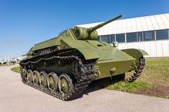 Stary sowiecki lekki zbiornik T-70 Zdjęcie Stock