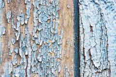 Stary spierzchniający błękitny drewniany tło obraz stock