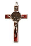 Stary srebny krucyfiks odizolowywający obrazy stock
