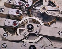 Stary srebro zegar Obrazy Stock