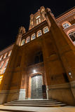 Stary stadthaus budynek w Berlin Germany przy nocą obrazy royalty free