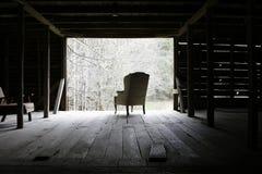 stary stajni krzesło Obrazy Royalty Free