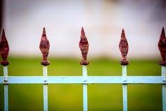 Stary stali ogrodzenie Zdjęcia Royalty Free