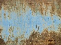 Stary stalowego błękita panelu tekstury abstrakta tło Zdjęcie Royalty Free